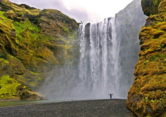 Imagen de Skógarfoss, Islandia, posible localización de rodaje de Thor: The Dark World (2013)