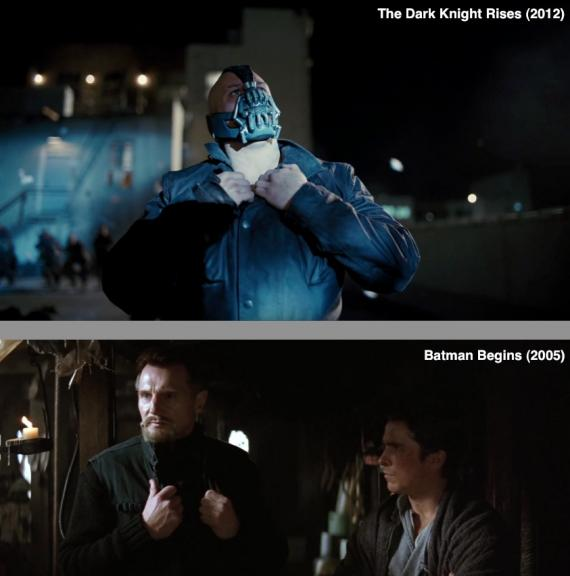Semejanzas entre The Dark Knight Rises (2012) y Batman Begins (2005)
