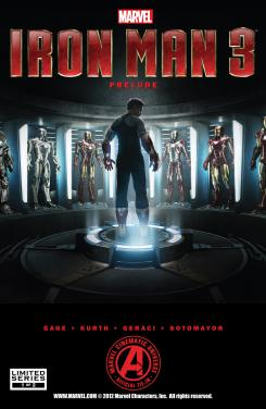 Portada del cómic Marvel Iron Man 3 Prelude #1