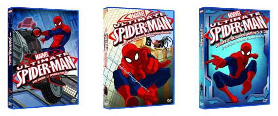 "Carátulas de los DVD's de ""Ultimate Spider-Man"""