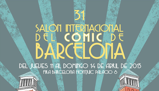 Recorte del cartel del 31 Saln Internacional del Cmic de Barcelona