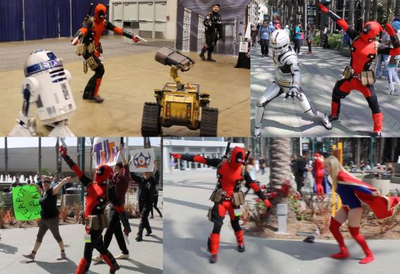 Gracioso vídeo de un fan disfrazado de Deadpool en la WonderCon 2013