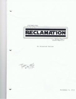 Documento de la serie de animación Star Wars: Reclamation