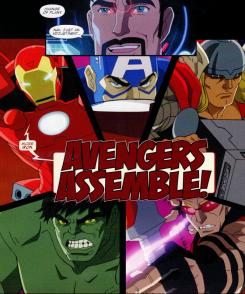Imagen promocional de Thor en la serie de animacin Avengers Assemble (2013)