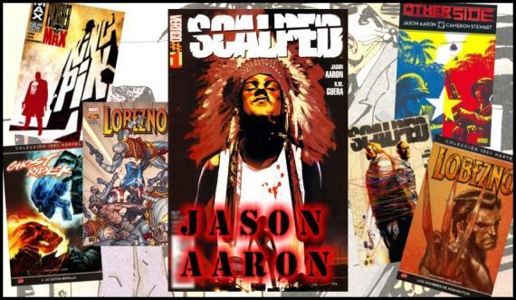 Composición promocional de la presencia de Jason Aaron en el salón avilesino