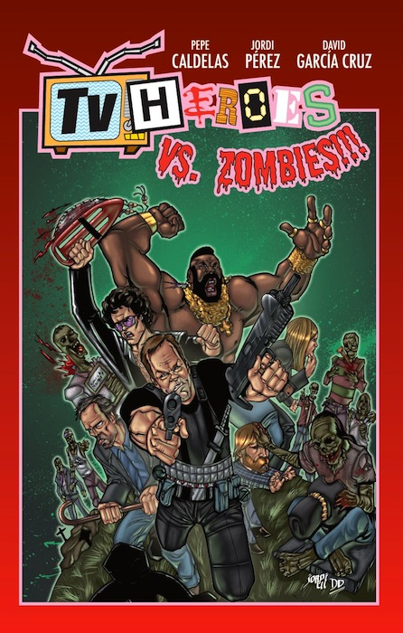 Portada del cómic TV Heroes vs Zombies