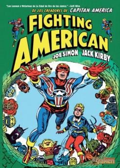 Portada del cómic Fighting American, distribuido por Ediciones Jaguar