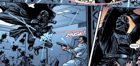 Interior del cómic : Star Wars: Dark Times #6
