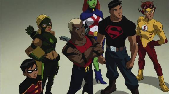 Imagen de la primera temporada de la serie Young Justice