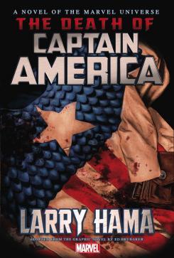 Portada para Estados Unidos de la novela Death of Captain America / La muerte del Capitán América