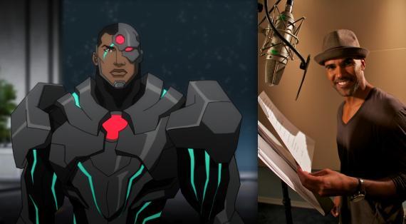 Cyborg junto a Shemar Moore en Justice League: War (2014)