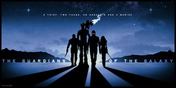 """Poster de """"Guardianes de la Galaxia"""" (2014), de Matt Ferguson"""