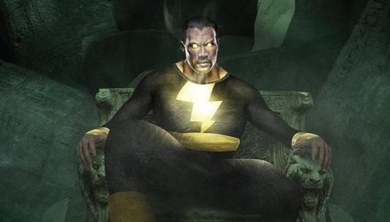 Fan-art de Dwayne Johnson como Black Adam para la película Shazam (2019)