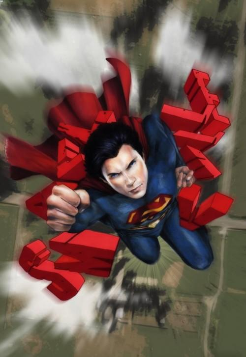 Portada digital del primer cómic de Smallville