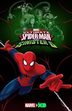Póster de la cuarta temporada de Ultimate Spider-Man, titulada Ultimate Spider-Man vs. The Sinister 6