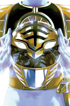 Portada del White Ranger en Mighty Morphin' Power Rangers