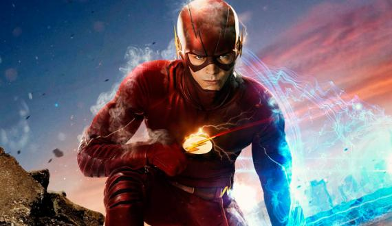 Recorte de un póster de la segunda temporada de The Flash