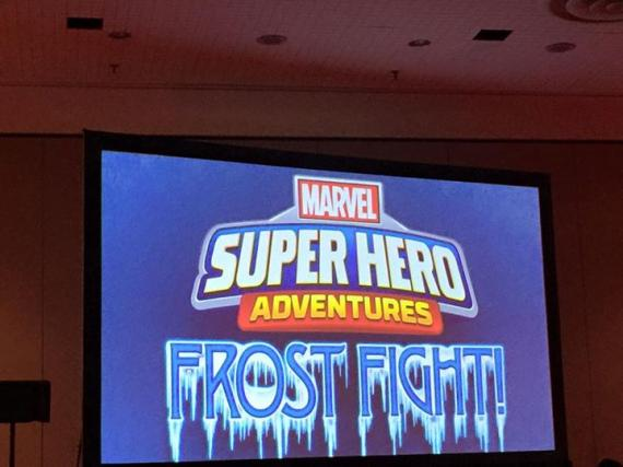 Captura de la presentación de Marvel Super Hero Adventures: Frost Fight!