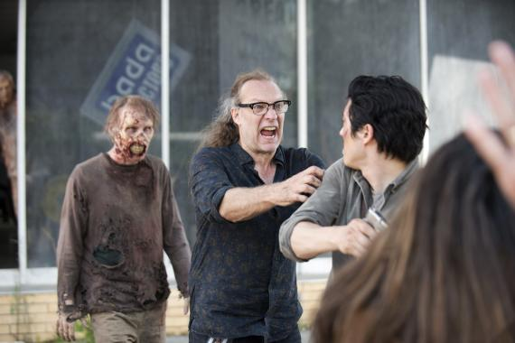 Greg Nicotero en el set de la sexta temporada de The Walking Dead