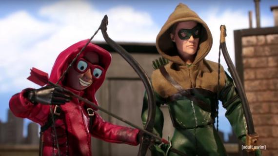 Robot Chicken parodia a The CW con representaciones libres de Arrow y The Flash