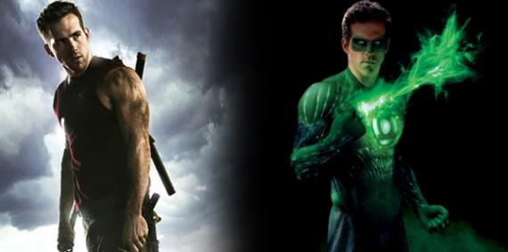 Ryan Reynolds como Deadpool y Green Lantern
