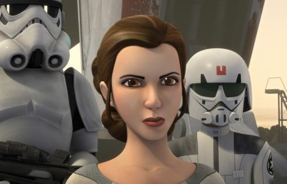 La Princesa Leia en Star Wars Rebels (2016), episodio A Princess in Lothal