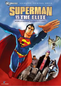 Portada de la película de animación Superman vs The Elite (2012)