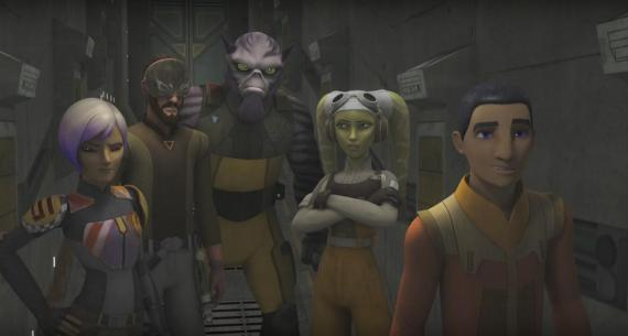 Captura del trailer de la tercera temporada de Star Wars Rebels
