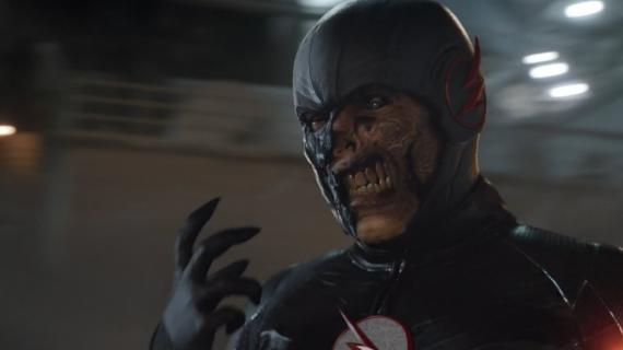 Captura del Black Flash en el final de la segunda temporada de The Flash