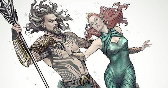 Fan-art de Aquaman y Mera en Justice League