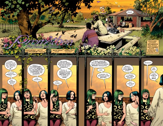 Página doble de Promethea #13