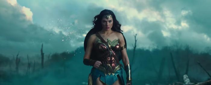 Captura del segundo trailer de Wonder Woman (2017)
