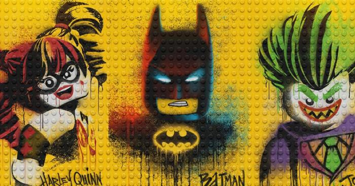 Póster grafitero de The LEGO Batman Movie