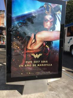 Póster de Wonder Woman visto en Mexico