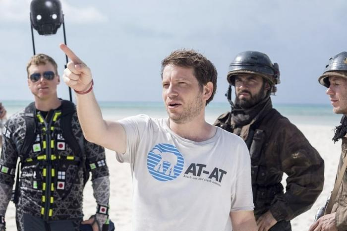Imagen del set con el director de Rogue One: Una historia de Star Wars