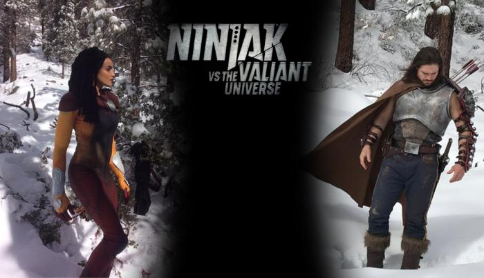 Montaje con Livewire y Eternal Warrior en Ninjak vs. the Valiant Universe