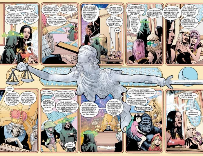 Página doble de Promethea #25