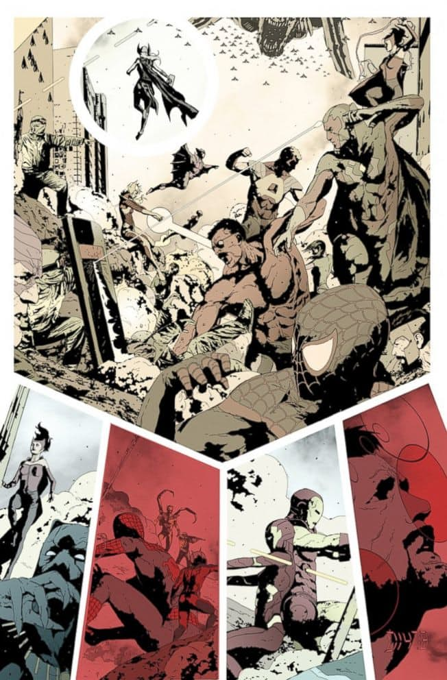 Interior de Secret Empire por Andrea Sorrentino