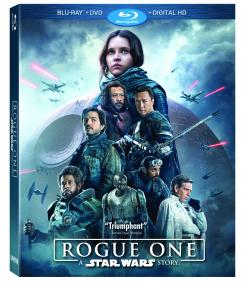 Carátula de la edición Blu-ray de Rogue One: Una historia de Star Wars (2016)