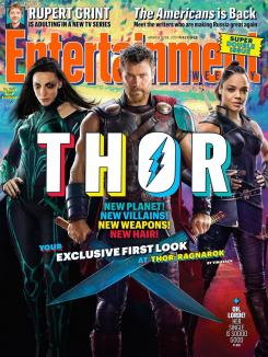 Portada de Thor:Ragnarok en Entertainment Weekly