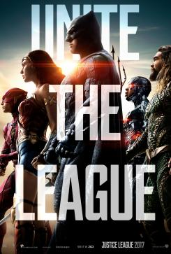 Póster de Justice League con Batman, Wonder Woman, Flash, Aquaman y Cyborg