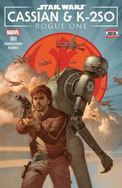 Imagen portada de Star Wars: Rogue One - Cassian & K-2SO Special #1, arte por Julian Totino Tedesco
