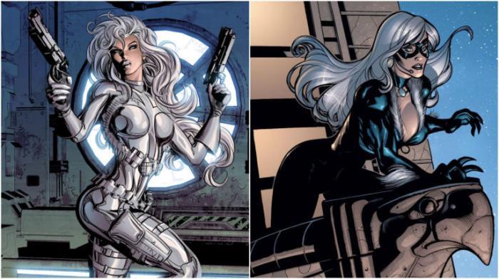 Black Cat y Silver Sable en los cómics