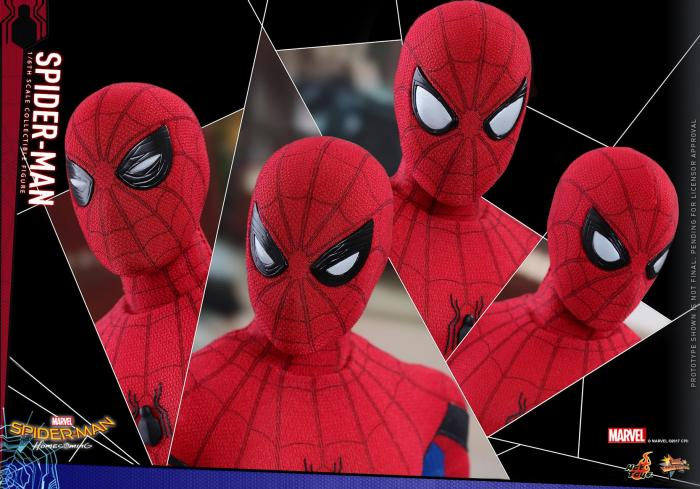 Figura de Spider-Man de Hot Toys de Spider-Man: Homecoming (2017)