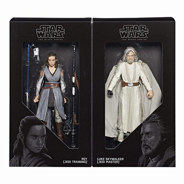 Figuras de Luke Skywalker y a Rey en las Black Series