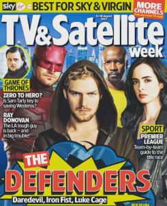 Portada de la revista TV & Satellite Week dedicada a The Defenders