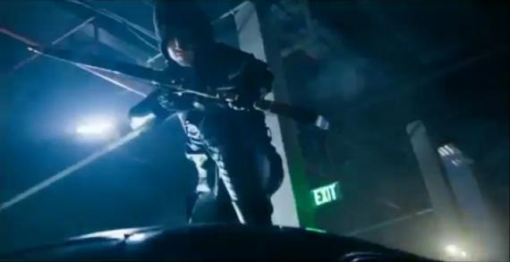 Captura del trailer de Arrow