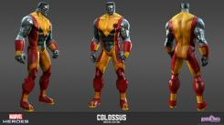 Concept art: Model Sheet de Coloso del videojuego Marvel Heroes