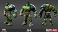 Concept art: Model Sheet de Hulk (Planet Hulk) del videojuego Marvel Heroes