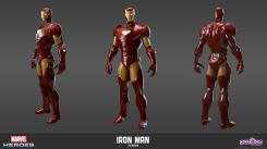 Concept art: Model Sheet de Iron Man del videojuego Marvel Heroes